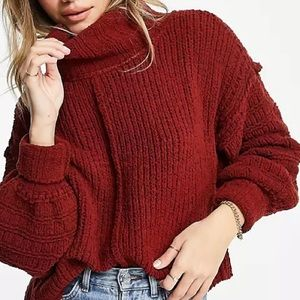 FREE PEOPLE BE YOURS KNITTED COWL SWEATER NWT ♥️